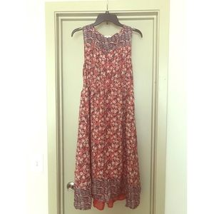 Lucky Brand floral midi dress